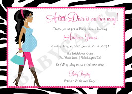 diva baby shower invitation zebra print totally fabulous diy