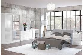 Single Pedestal Dressing Table Birlea Lynx White With White Gloss 3 Drawer Single Pedestal