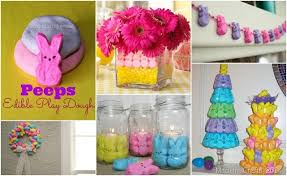 Easter Decorations Pics by Over 50 Marshmallow Peeps Crafts And Recipes
