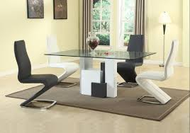 contemporary rectangular in wood modern dining table sets long