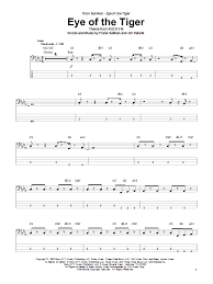 Count On Me Bruno Mars Piano Pdf Eye Of The Tiger Bass Guitar Tab By Survivor Bass Guitar Tab 72337