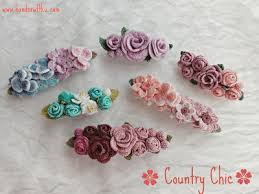 barrettes for hair handcraftku country chic crochet flower barrette hair