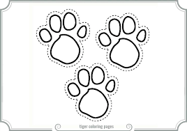coloring page tiger paw tiger paw coloring sheet printable coloring pages tiger paw coloring