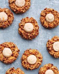 carrot cake thumbprint cookies recipe goat cheese carrots and