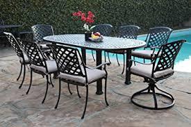 Aluminum Cast Patio Dining Sets Outdoor Cast Aluminum Patio Furniture 9 Dining