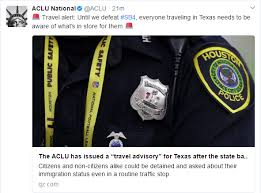 Texas travel warnings images Aclu of texas issues travel advisory in light of new immigration png