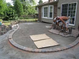 Backyard Stamped Concrete Patio Ideas Backyards Awesome Cement Backyard Ideas Backyard Design