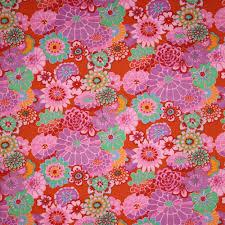Kaffe Fassett Home Decor Fabric Kaffe Fassett Asian Circles Tomato Fabric Emerald City Fabrics
