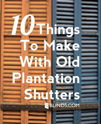 vintage window shutters repurpose tip junkie 10 things to make with old plantation shutters craft repurposed