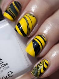 different love the look though black and yellow nails nail