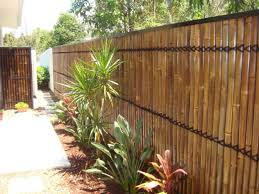 backyard design bamboo fence design deck contemporary with roof