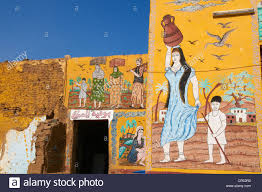 mural paintings stock photos mural paintings stock images alamy wall paintings on house in the village of gourna el gedida west bank of the