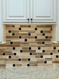 BROWN GLASS TRAVERTINE Mix Backsplash Tile For Traditional Kitchen - Brown tile backsplash