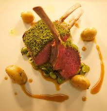 welsh lamb rack main course herb crusted lamb rack minted broad