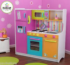 cuisine kidcraft kidkraft deluxe big n bright kitchen set food pretend play