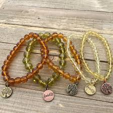 stackable bracelets stackable bracelets in fall colors with tree of charm set of 3