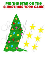instant download pin the star on the christmas tree game