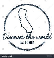 California Map Outline California Map Outline Vintage Discover World Stock Vector