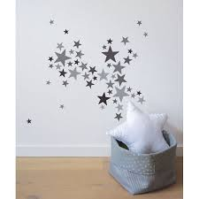 stickers étoile chambre bébé lot stickers etoiles trendy gris lilipinso and co au mur