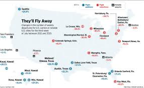 Southwest Airlines Route Map by The Cities That Have Lost The Most Flights Wsj