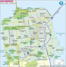 san francisco map california san francisco county map map of san francisco county california