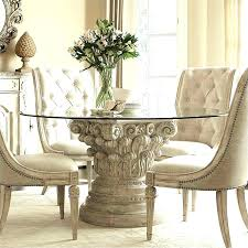 american drew camden white round dining table set american drew dining chairs couture silver leaf dining room set