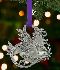 memorial pewter ornament dove of peace