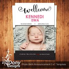 59 best birth announcement template images on pinterest births