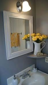 Yellow And Gray Bathroom Ideas Colors Bathroom Makeover Love The Yellow And Gray Combo And The