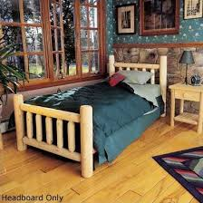 Wood Log Bed Frame Rustic Cedar Rustic Log Bed Slat Headboard Reviews Wayfair
