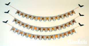 chemknits pumpkin chevron birthday banner free printable