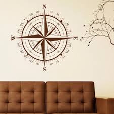 wall theme aliexpress buy compass wall decal compass nautical