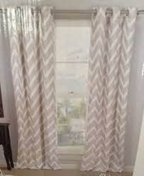 Beige And White Curtains 2 New Duck River Ashmont Window Panels Curtains Drapes Light Blue