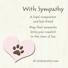 pet condolences pet condolence quotes quotesgram card pet sympathy