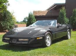 black convertible cars 1988 chevrolet corvette convertible black low fvl canterbury