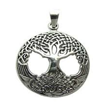 stunning 925 sterling silver celtic tree of pendant silver