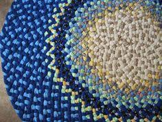 Round Rugs For Bathroom New Ready To Ship Beautiful Sturdy Recycled Denim Oval Braided Rug