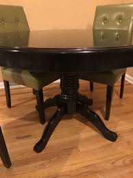 ronan extension table and chairs pier one ronan black dining table extension included 4 chairs and