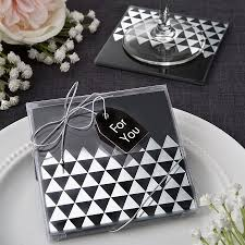 wedding favor coasters geometric design glass coaster set wedding favors bridal