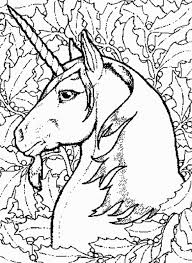 printable fairy unicorn coloring adults fantasy