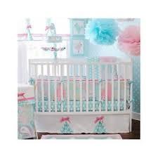crib bedding set baby 5pc nursery paisley polka dots bows