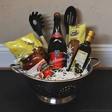 date gift basket ideas bridal shower present italian dinner date diy