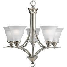 progress lighting p4328 10 5 light trinity chandelier polished