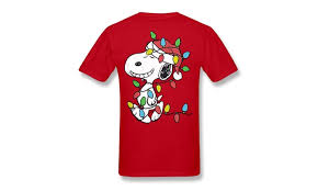 snoopy christmas t shirts peanuts snoopy wrapped in christmas t shirt groupon