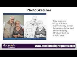 convert photos into pencil sketch on mac os x photosketcher