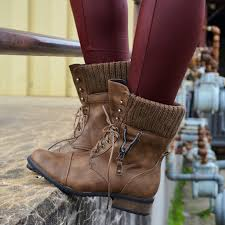 sweater lined foldover combat boots wish on the hunt