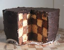 vanilla and chocolate checkerboard cake cake recipes chocolate