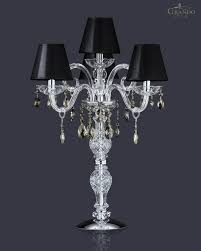Small Crystal Table Lamp Lighting Magnificent Crystal Chandelier Table Lamp With Chromed
