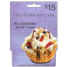 15 gift cards coldstone creamery 15 gift card walmart