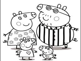 peppa pig family drawing coloring step step video lesson